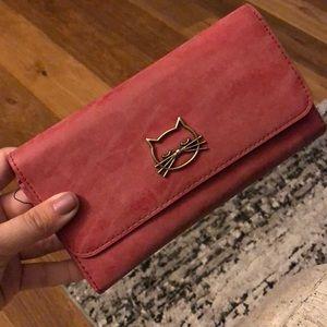 Target red cat wallet